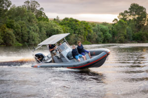 Boating on the river with the Falcon Inflatables Family